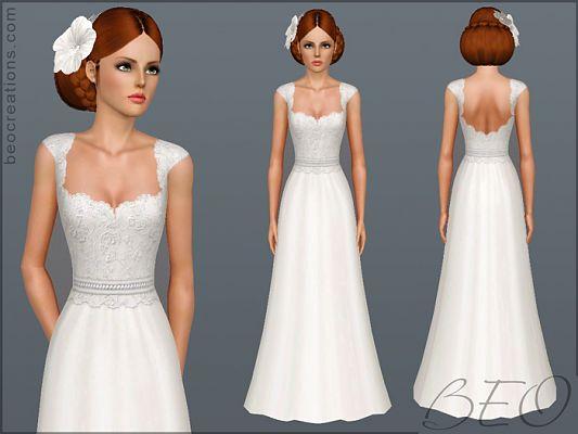 Sims 3 bride wedding dress