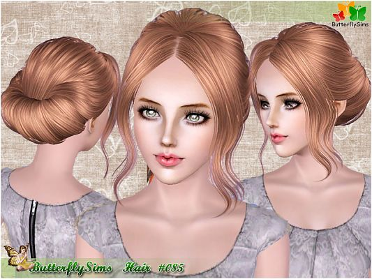 Sims 3 hair, hairstyle,  sims3, female