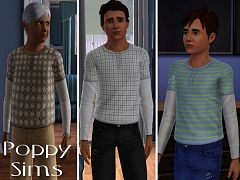 Sims 3 cloth, clothes, top, fashion, male