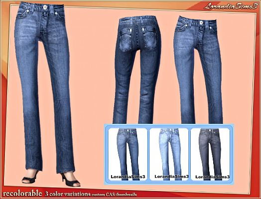 Sims 3 relaxed, jeans, bottom, denim, cloth, clothes, fashion