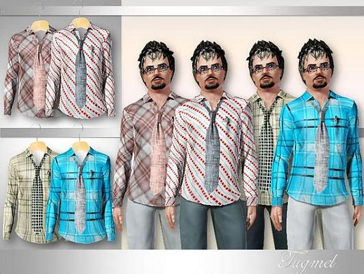 Sims 3 shirt, outfit, male, clothing
