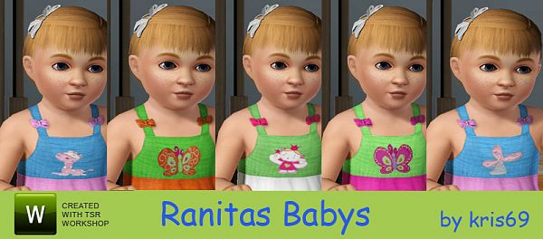 Sims 3 toddler, clothes, baby