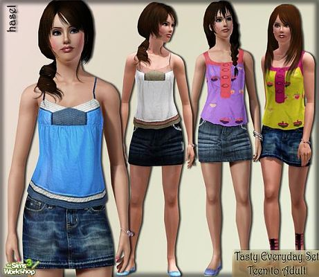 Sims 3 outfit, clothing, fashion, everyday