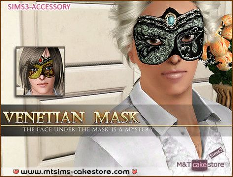 Sims 3 venetian, mask, makeup, costume, ball