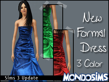 Sims 3 formal, dress, fashion