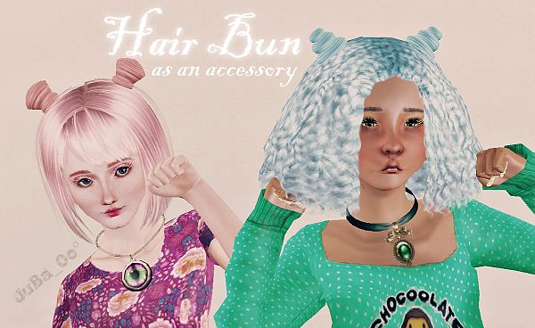 Sims 3 accessory, jewelry, hair bun