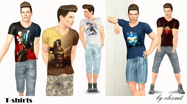 Sims 3 male, t-shirt, top, clothing, sims3