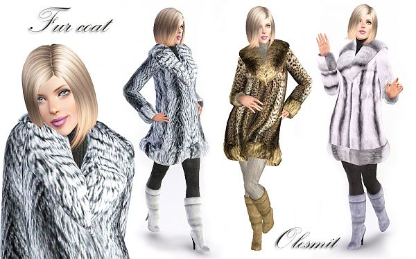 Sims 3 coat, outfit, clothing, fashion, female, sims3