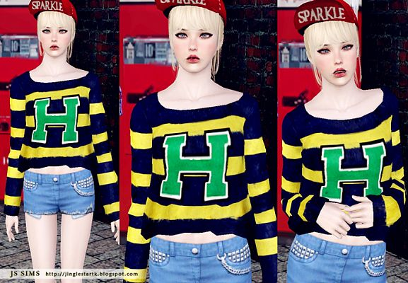 Sims 3 top, sweater, clothing