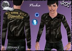 Sims 3 teen, male, leather, clothing, fashion