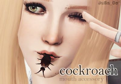 Sims 3 cockroach, mouth, accessory