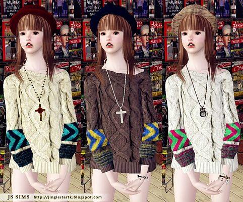 Sims 3 sweater, knit, top, female