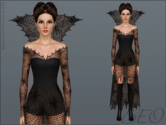Sims 3 dress outfit clothing fashion halloween female sims3  sc 1 st  Sims 3 Updates & Sims 3 Updates - Beo Creations : Halloween dress 2 by BEO