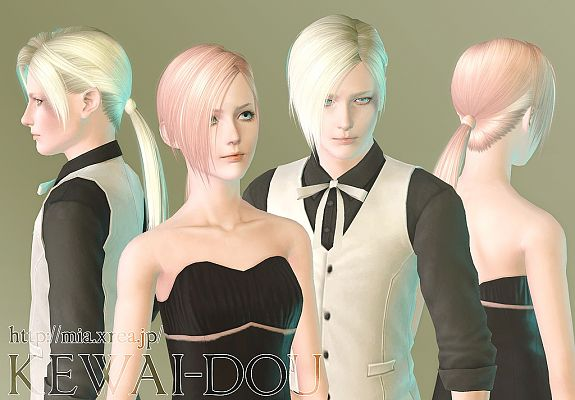 Sims 3 hair, hairstyle, female, male