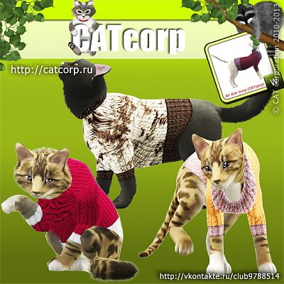 Sims 3 sweater, pets, cat