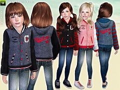 Sims 3 jeans, jacket, college