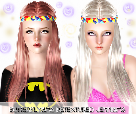 Sims 3 hair, hairstyle, genetics, female, retexture
