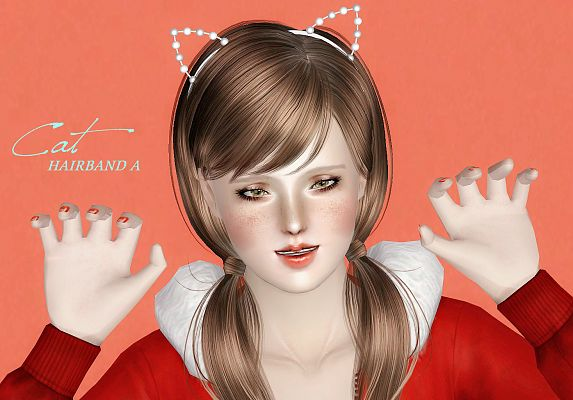Sims 3 hairband, accessories, fashion