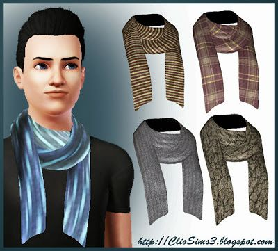 Sims 3 scarf, accessory, males