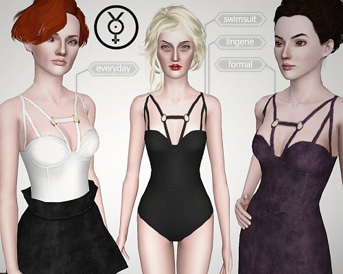 Sims 3 outfit, clothing, fashion, swim, body