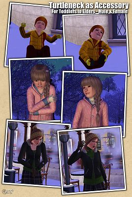 Sims 3 turtleneck, accessories, female, male, sims3