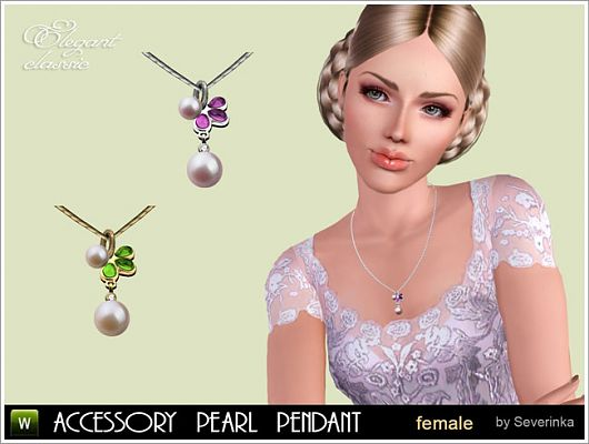 Sims 3 necklace, pendant, accessory, jewelry