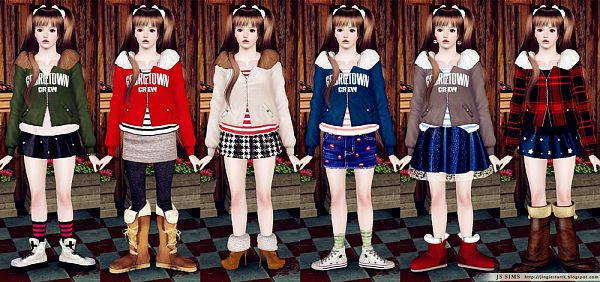 Sims 3 coat, outwear, clothing