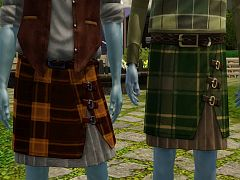 Sims 3 kilt, conversion, clothing