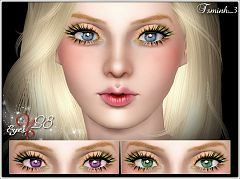Sims 3 eyes, contact lenses, female, makeup