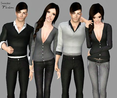 Sims 3 outfit, fashion, clothing, sweater