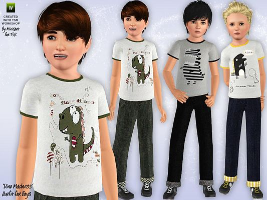 Sims 3 clothing,male, outfit, child