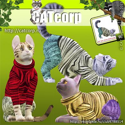 Sims 3 cloth, clothing, cats
