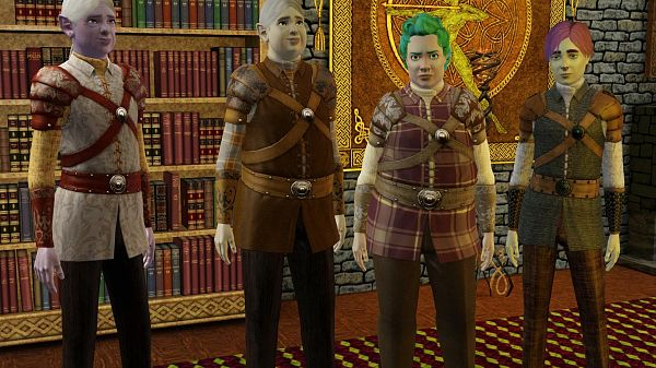 Sims 3 armor, top, clothing