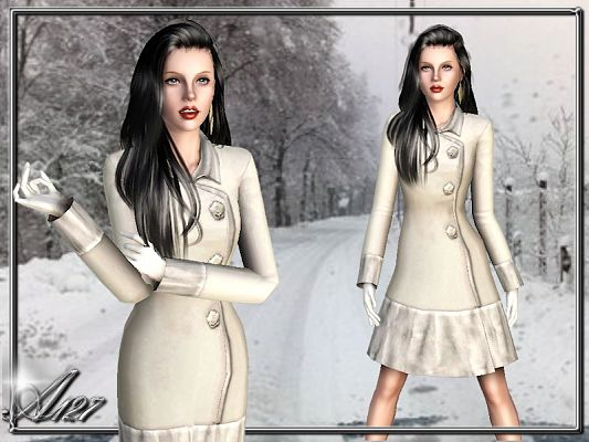 Sims 3 coat, clothing, fashion