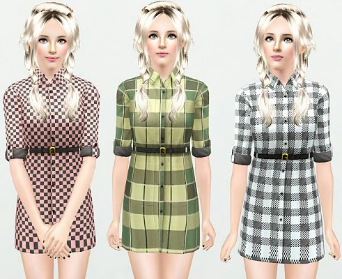 Sims 3 dress, cloth, clothing, casual, fashion