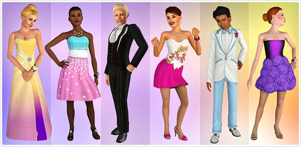 Sims 3 dress, cloth, clothing, outfit, fashion, shoes