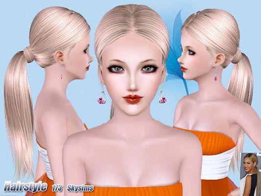 Sims 3 hair, hairstyle, female