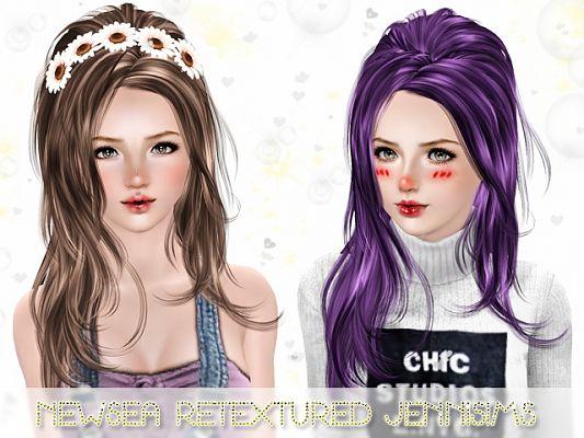 Sims 3 hair, hairstyle, female, retexture