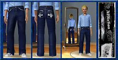 Sims 3 jeans, cloth, clothes, bottom, fashion