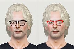 Sims 3 eyeglasses, glasses, accessories, male, sims3
