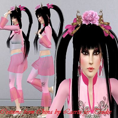 Sims 3 cloth, clothing, outfit, china