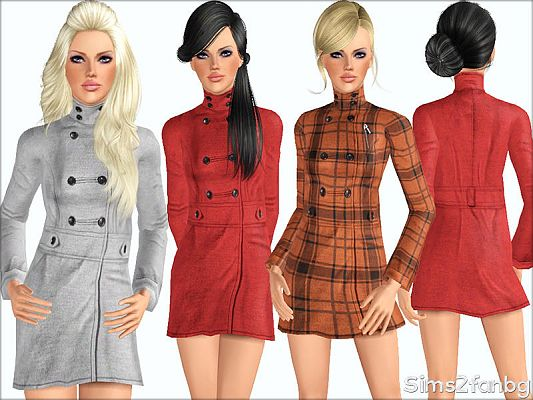 Sims 3 coat, outfit, outerwear, clothing, fashion, female, sims3