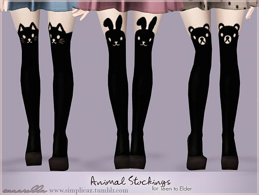 Sims 3 stockings, hosiery, glasses