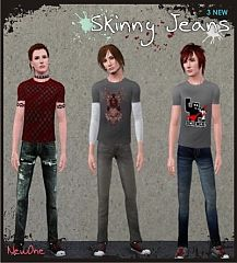 Sims 3 clothing, fashion, jeans, male, acid, bleach, twis