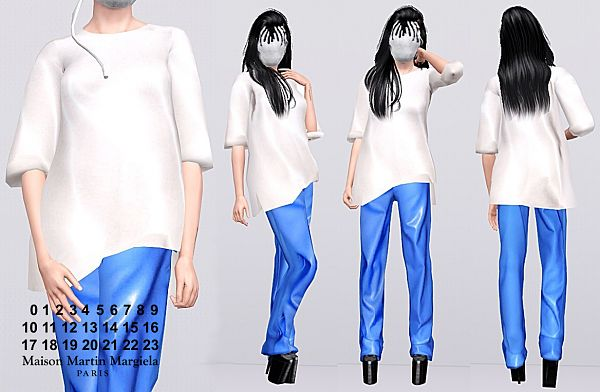 Sims 3 cloth, clothing, outfit, mask