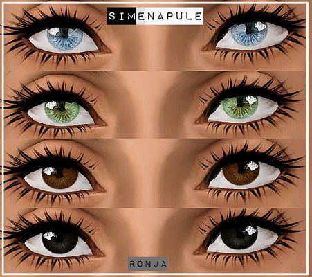 Sims 3 eyes, contact lenses, costume makeup, male, sims3