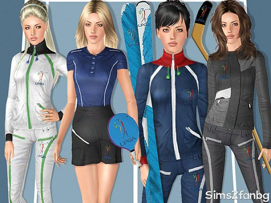 Sims 3 cloth, clothing, outfit, sport, athletic, set