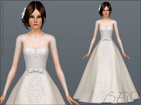 Sims 3 dress, cloth, clothing, outfit, fashion, accessory