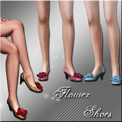 Sims 3 shoes, flower, heels, sandals