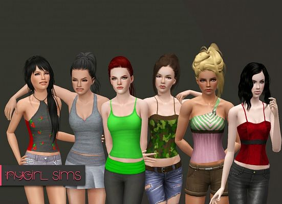 Sims 3 top, fashion, clothing, female, outfit